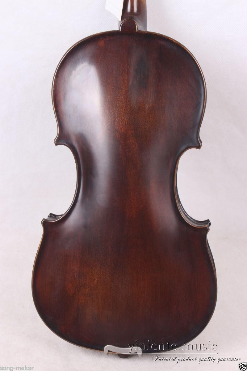 New Acoustic Violin 4/4 Full Size Maple Spruce wood Advance Retro #1-2 beautiful sky blue violin high quality china acoustic violin 1 4 3 4 4 4 1 2 1 8 size send with bag