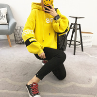 Thick Hoodies Autumn&winter Loose Long Sleeve Women Harajuku Letter Print Sweatshirt And Pullovers Kawaii Bts Kpop Clothes