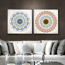 SURE LIFE Modern Mandala Pattern Canvas Painting Circle Poster and Print Wall Art Pictures For Living Room Home Decor No Frame(China)