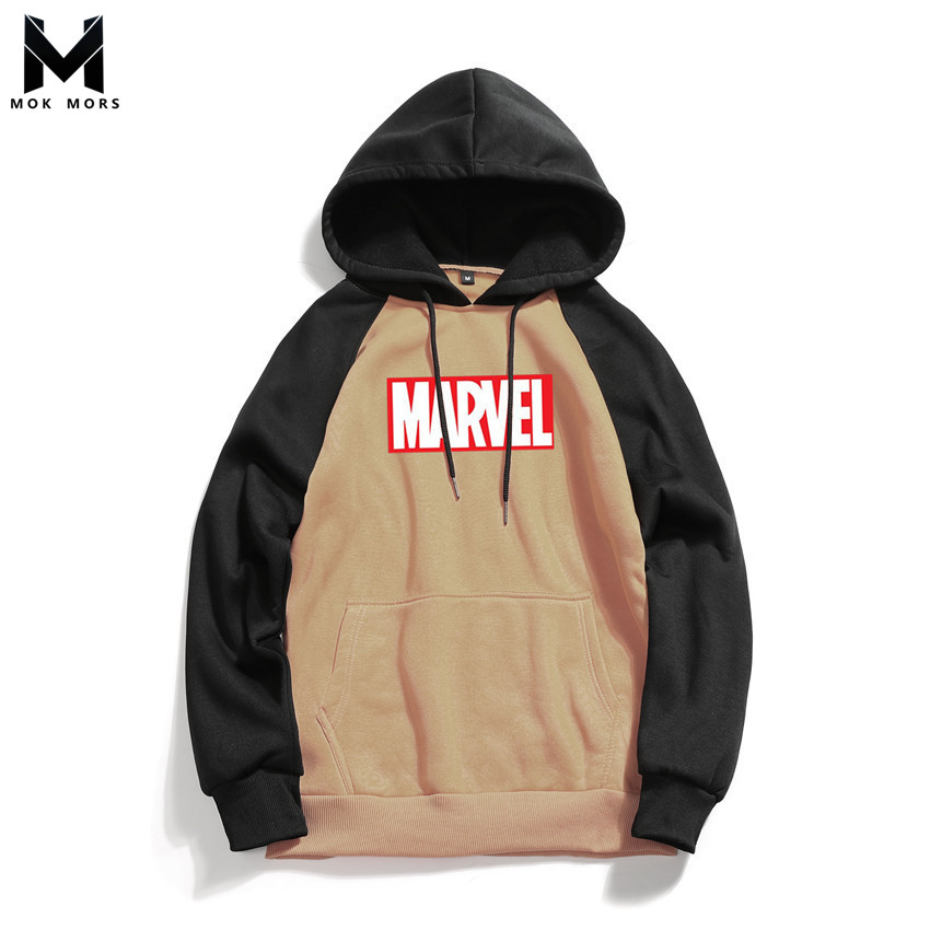 Sweatshirts Men Hooded Letter-Printed Long-Sleeved Cotton Fashion-Brand Business Wild