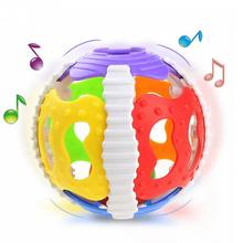 Colorful Handrattle Safty Ball Toys Baby Soft Hand Catcher Rattle Baby Puzzle Educational Toys