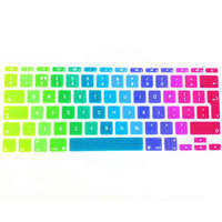 Rainbow Silicone UK EU Keyboard Cover Skin Protector Sticker Protective Film For Apple Mac Book Air
