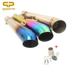 Motorcycle Exhaust Pipe Escape muffler Dirt Bike DB killer For Honda CB300R CB400 CB500 Z250 Z750 Z800 KTM125 GP R6 AKRAPOVIC все цены