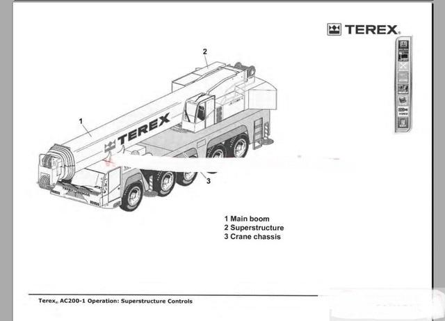 terex crane shop manual parts manual operation and maintenance rh aliexpress com Cat 247B Tracks 10417 Radiator Hoses for Terex Crane