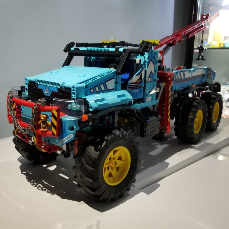 HOT SALE Technic Radio Remote Control 6x6 All Terrain Tow Truck Pickup Lepins Building Block Model Brick Rc Toy Collection technican technic 2 4ghz radio remote control flatbed trailer moc building block truck model brick educational rc toy with light