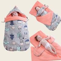 Baby Stroller Sleeping Bag Winter Warm Sleepsacks Robe For Infant wheelchair envelopes for newborns Thick Baby Swaddle