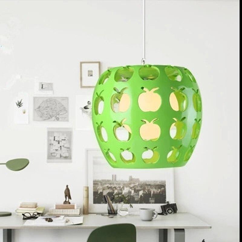 Bar counter living room cafe resin pendant lamps green apple shape hotel lamps home lighting pendant light green whitewl3231537