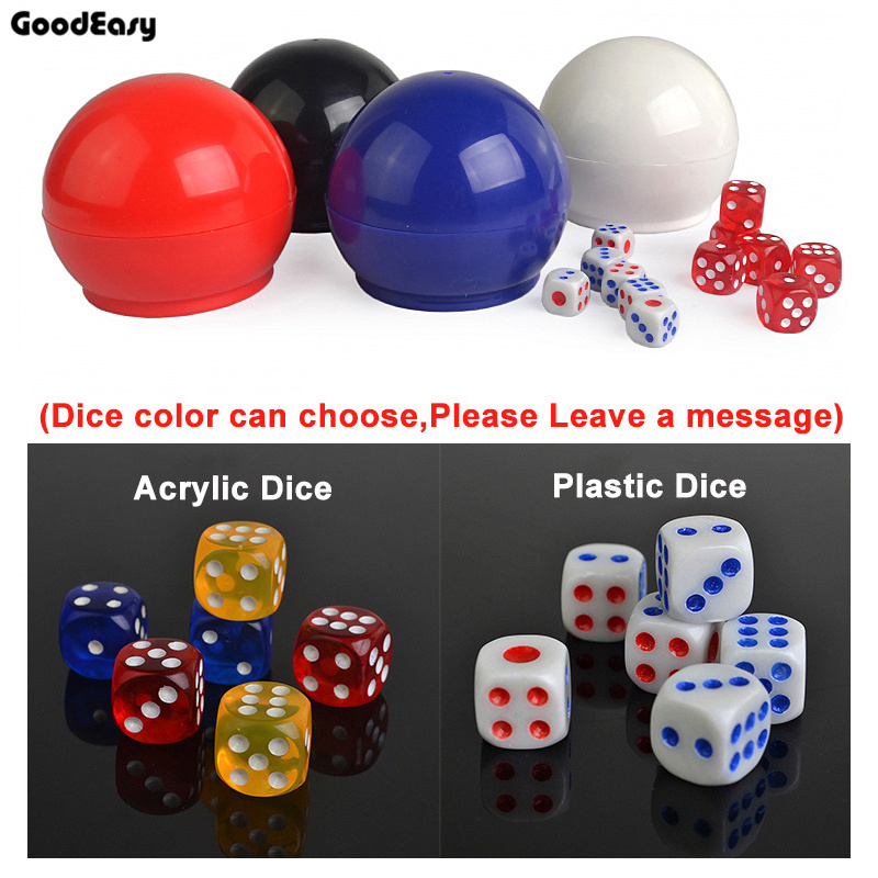 Sphericalce Plastic Cup with 6 Dices Shaking Cup Drinking Games     Sphericalce Plastic Cup with 6 Dices Shaking Cup Drinking Games Bingo Dices  Set Night Bar Game Poker Chips Dice Cups in Dice from Sports    Entertainment on