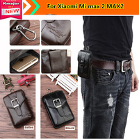 Hot For Xiao Mi Xiaomi Mi Max 2 MAX2 Case Belt Clip Pouch Genuine Leather Waist