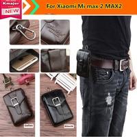 Hot For Xiao Mi Xiaomi Mi Max 2 MAX2 Case Belt Clip Pouch Genuine Leather Waist