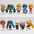 3Styles Optional 6cm Hatsune Miku Toy Figure Miku PVC Nendoroid Petit Vocaloid Figure 10pcs/set or 5Pcs/set Free Shipping
