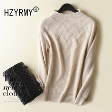 HZYRMY Autumn Winter New Women's Cashmere Sweater Fashion O-Neck High Quality Soft Shirt Short Wool Loose Pullover Solid Sweater