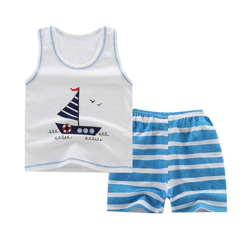 2019 Baby Boys Sets Summer Boys Sets Clothes T Shirt+short Pants Cotton Sports Letter Printed Set Children Suit Boys Clothes