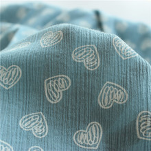 Printed Cotton Crepe Fabric Texture Summer Clothing Anti-mosquito Shirt Skirt Garment Accessories