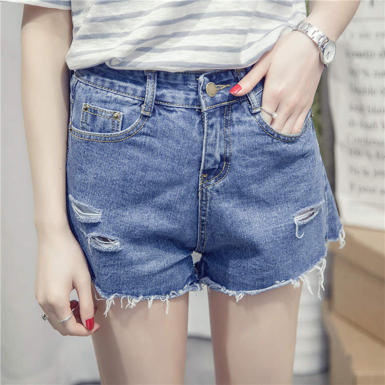 Hot Shorts Sexy Grinding Summer Hole Destroyed Shorts Jeans High Waist Slim Body Jeans Short Hot