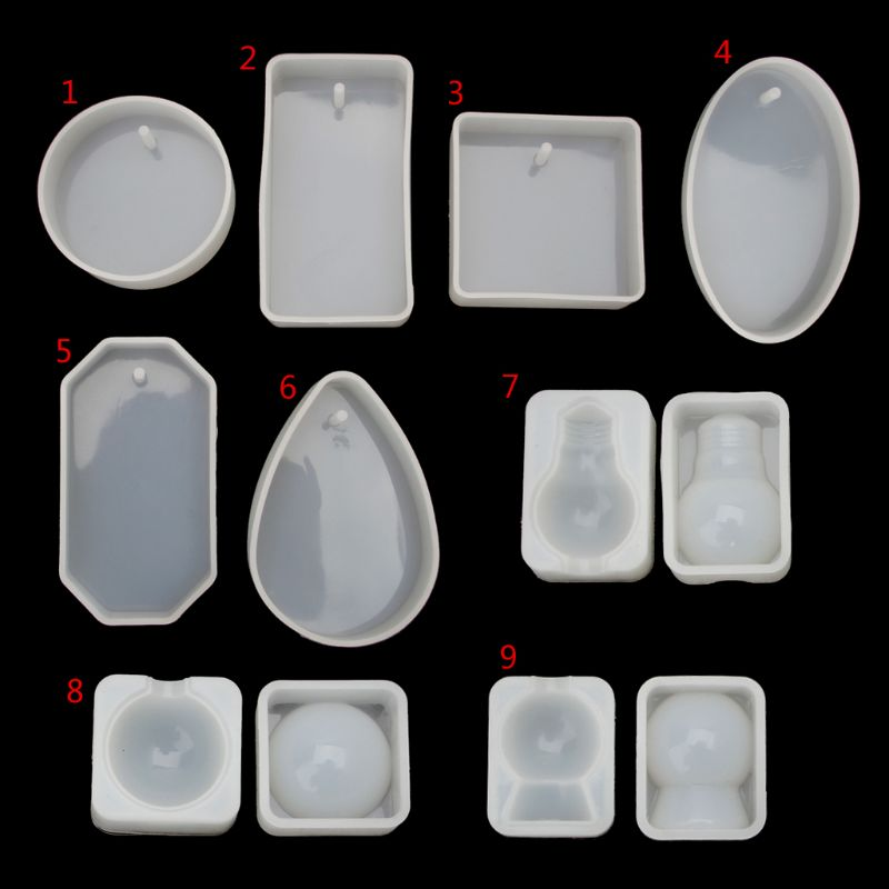 Wholesale Large Ball Bulb Oval Round Square Shape Silicone Resin Mold Soap <font><b>Wax</b></font> Candle Mold image