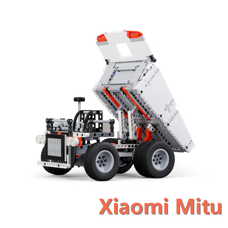 Xiaomi Mitu Building Blocks Toys Mining Truck Educational Kids Toys Models Steering Wheel Control System For Kid Gift Present dayan gem vi cube speed puzzle magic cubes educational game toys gift for children kids grownups