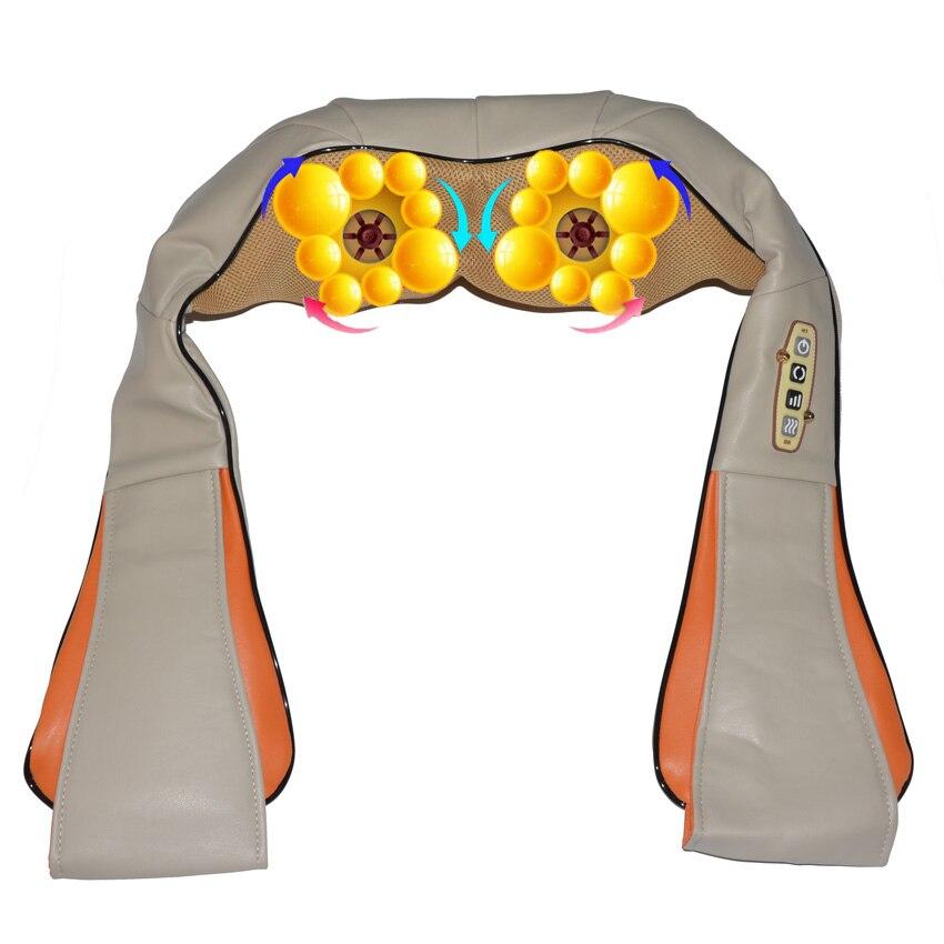 Amkee 16 Sfera di Massaggio Shiatsu Back Neck Spalla Massager Del Corpo Elettrico 4D Infrarossi Impastare Massaggiatore Auto a Casa A Duplice Uso Della Macchina