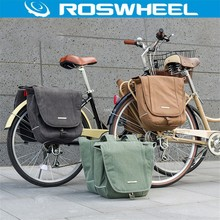 ROSWHEEL Bicycle Bag MTB Road Rear Rack Bike 20L Canvas Cycling Bag Seat Saddle Bag Double