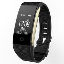 S2 Смарт Браслет Спорт Фитнес трекер сердечного ритма качество сна Мониторы вызова/SMS напоминание IP67 Водонепроницаемый для iOS и Android