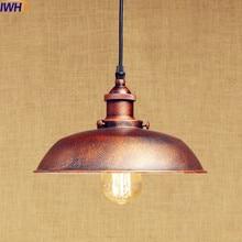 IWHD Rust Retro Vintage Pendant Lights LED Edison Style Loft Industrial Lamp Metal Iron Rustic Hanging Light Lampara Colgante free shipping rh490 retro loft vintage style metal painting industrial pendant light