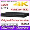 Free Shipping New DAHUA 16CH 1U 4K H 265 1080P NVR Support 2HDD Onvif NVR5216 4KS2