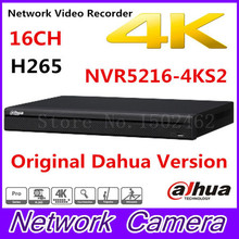 Free shipping New DAHUA 16CH 1U 4K&H.265 1080P NVR support 2HDD Onvif NVR5216-4KS2 Network Video Recorder