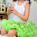 Girls skirts tutus fluffy  girls pettiskirts kids girls holiday tutu skirt LIME GREEN toddler girl clothing