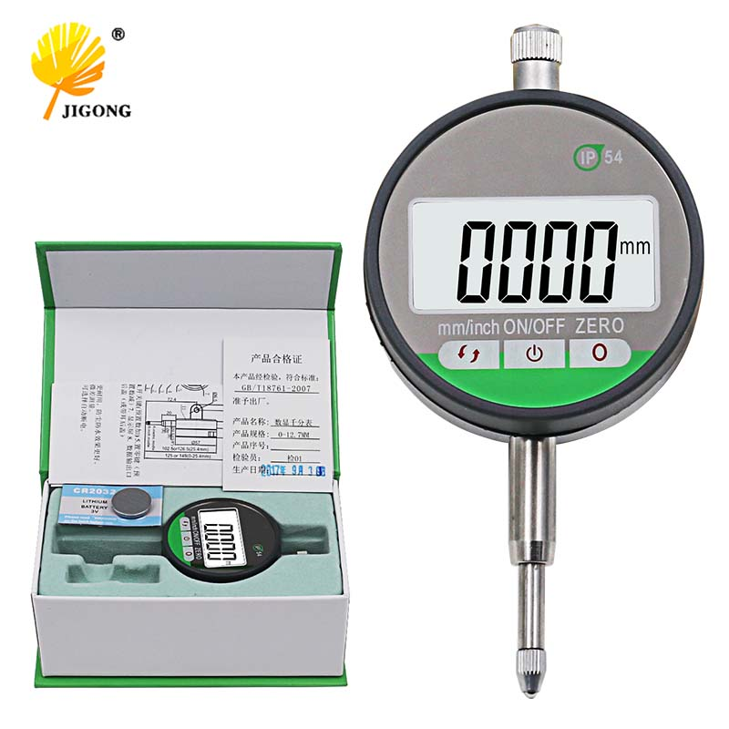 IP54 Oil proof Digital Micrometer 0.001mm Electronic Micrometer Metric/Inch 0 12.7mm /0.5Precision Dial Indicator Gauge Met