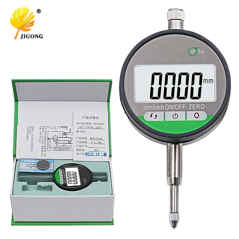 "IP54 Oil-proof Digital Micrometer 0.001mm Electronic Micrometer Metric/Inch 0-12.7mm /0.5""Precision Dial Indicator Gauge Met"