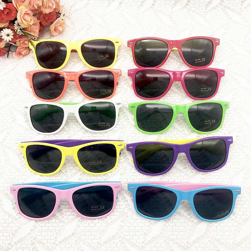 60 пар/лот пользовательские солнцезащитные очки для отдыха смешивания Цвет пляжные солнцезащитные очки вечерние поставки 80-х тема вечерние сувенирные солнцезащитные очки сувениры