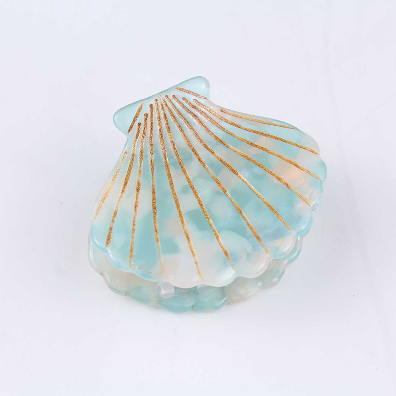 2019 new fashion shell design Hair Claws acetate resin hairpin flower print headwear Ponytail ties women girls hair accessories in Women 39 s Hair Accessories from Apparel Accessories