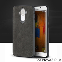 wangcangli brand All handmade genuine fur phone case For Huawei Nova2 Plus Comfortable touch all inclusive phone case
