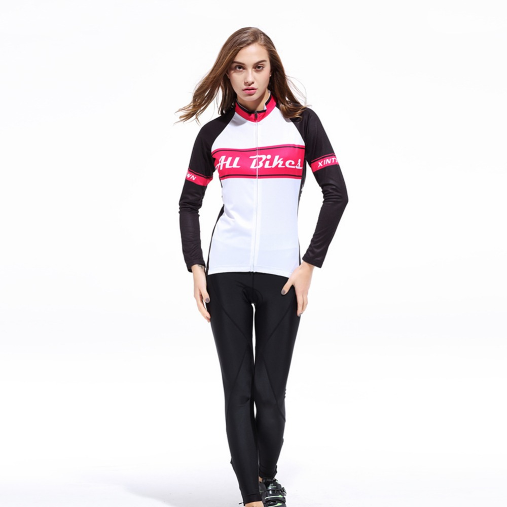 Women Bike Long jersey Pants Sets Pro Team Cycling clothing Riding Top MTB Wear Long Sleeve Shirts Long sleeved suit