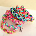 5Pcs Women Braided Super Stretch Hair ties/ Elastic Hair Rings Ropes Bands Hair Braider Styling Tools Hairdressing Accessories