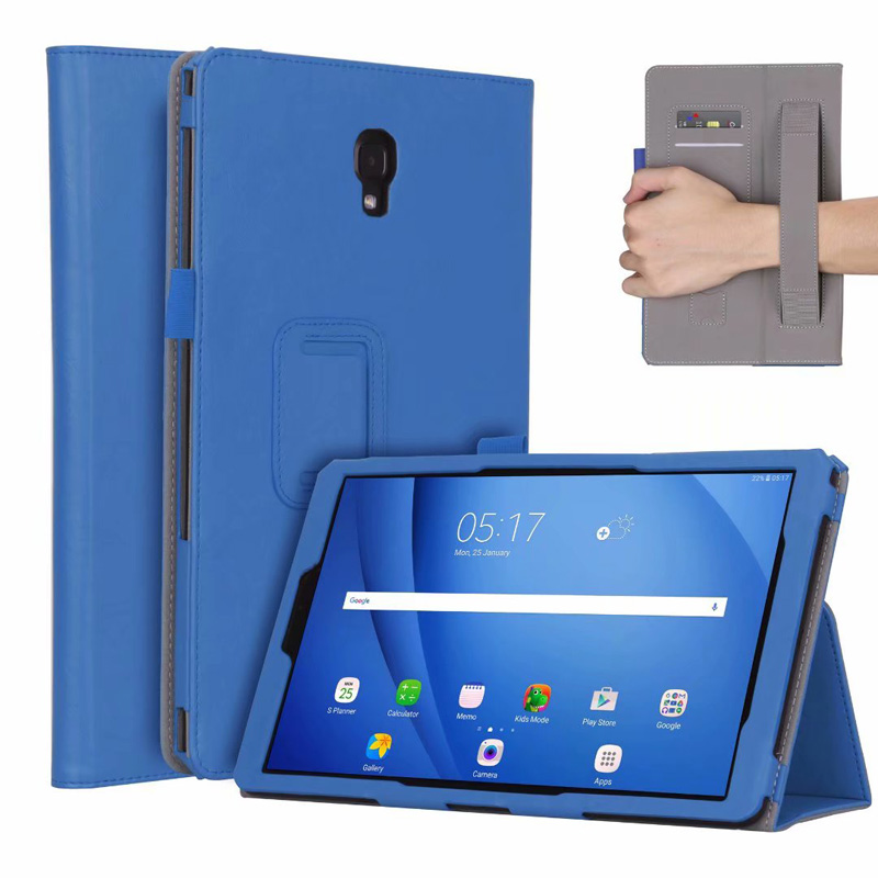 Luxury Folding Handstrap/Card Slots PU Leather Case For Samsung Galaxy Tab A 10.5 T590 T595 / S4 10.5 T830 T835 Cover 20PCS/Lot