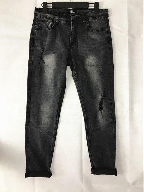 71c02927e Classic Men Denim Jeans Stretch Punk Men Black Skinny Knee Ripped Jeans For  Men Pocket Elastic Jeans Destroyed Masculina Hip Hop