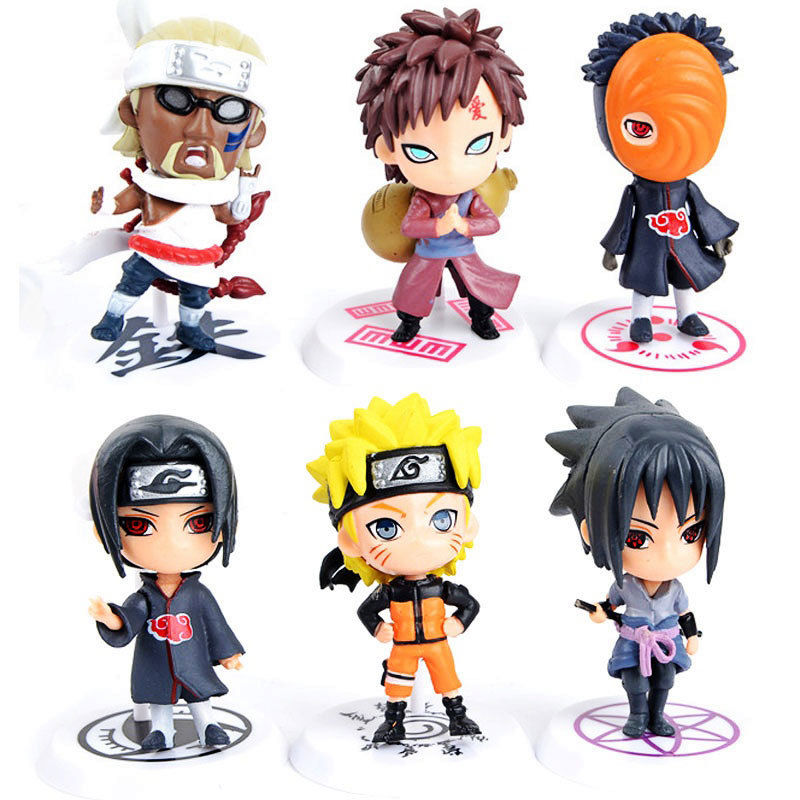 6 PCS Action Figures Toys Gifts Toy Pvc Collections Christmas Model For Ninja Naruto