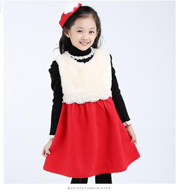 79a0b9923cb0b6 Meisjes jurk voor de herfst kinderen winterkleding kinderen meisjes 2015  hoge- kwaliteit wollen vest