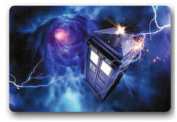CHARMHOME Custom Tardis Dr Who Door Mat Art Design Pattern Printed Non-slip Carpet Floor Hall Bedroom Cool Pad Fashion Rug