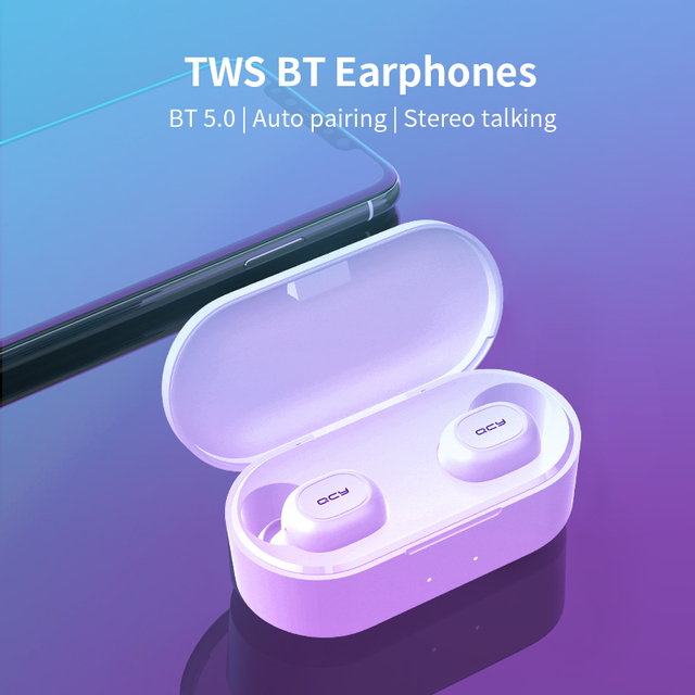 QCY QS2 TWS Headphones Bluetooth V5.0 3D Stereo Sports Wireless Earphones with Dual Microphone, Auto connect 2