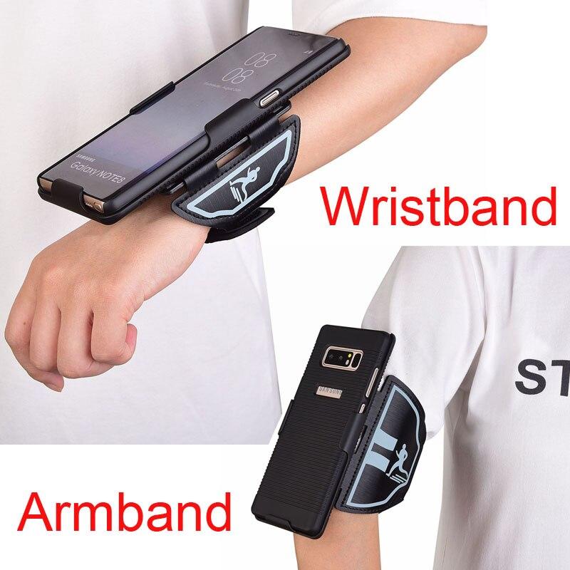 Note8 fall Sport Arm band armband fall Für Samsung galaxy note 8 abdeckung Gym Lauf Übung Telefon Halter Armband Zurück Abdeckung