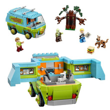 New Scooby Doo Mystery Machine Bus Building Blocks DIY Blocks Toys Compatible With Legoing Birthday Gifts for Children Figure