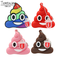 Cute Shit Emotion USB Flash Drive Disk Cartoon Poo Shape External Memory Stick PenDrive Pen Drive