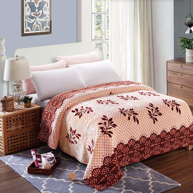 UNIHOME Free shipping king/queen/full size Home Textile Fashion plaid The warm coral fleece blankets on the bed throw bedclothes