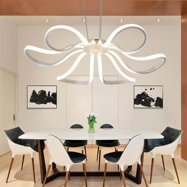 Moderne Acryl Pendelleuchten Aluminium Nordic Hangen Lampen Esszimmer Wohnzimmer Bar Droplight Leuchte Dimmbar Suspension
