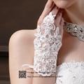 Lovey Prom Luvas de Strass Luvas de Noiva branco de Renda Sem Dedos Luvas de Casamento