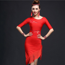 Sexy Latin Dance Dress Women Micro fiber Latin dance dress Salsa Samba Tango BallLatin Dance Dress