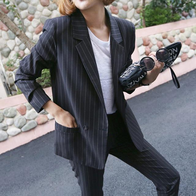 Cargado OL nueva carrera traje traje pantalón de la mujer de manga larga traje casual traje de dos piezas onda DO10