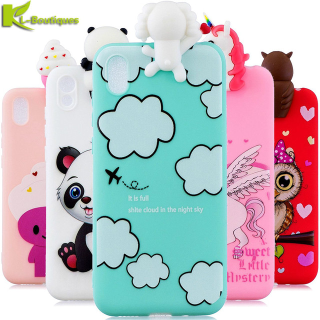 Honor 8S Phone Case on for Huawei Y5 2019 Honor 8 S KSE LX9 Y 5 2019 Cover Cute 3D Doll Toy Cartoon Silicone Soft TPU Case Women